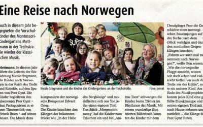Eine Reise nach Norwegen – Klassische Musik im Montessori-Kindergarten